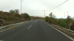 Driving on urban roads of Tenerife Stock Footage