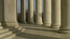 Quiet Day at the Jefferson Memorial Stock Footage