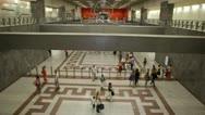 Athens city views - Syntagma subway Stock Footage