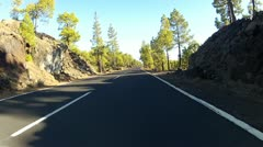 Driving in the mountains of Tenerife - stock footage