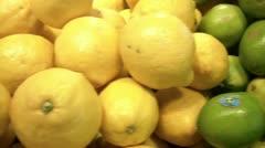 Citrus Fruits Pan Stock Footage
