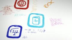Education Apps Whiteboard Stock Footage