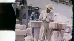 STONE MASONS Quarry CUTTERS Quarry 1950s (Vintage Film Home Movie) 5820 Stock Footage