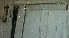 Cobweb at Old Farmhouse Stock Footage