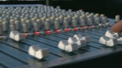Audio Mixing Desk Stock Footage