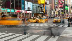 4K Times Square Traffic Timelapse 3 Stock Footage