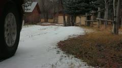 Snow turns to mud Stock Footage