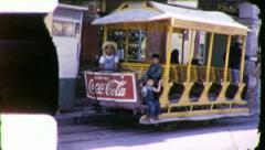 Street Car MEXICO City SCENE Horse Trolley 1940s Vintage Film Home Movie 5830 Stock Footage