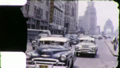 Avenida de la Republica MEXICO CITY 1940s (Vintage Film Home Movie) 5834 Stock Footage