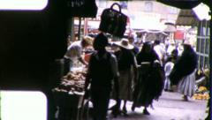 MEXICAN TRADITIONAL Market MEXICO Shopping 1960s (Vintage Film Home Movie) 5835 Stock Footage