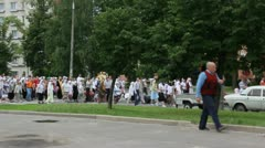 Religious procession Stock Footage