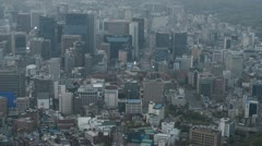 Day Aerial View of Seoul Skyline, Cityscape, South Korea, Skyscrapers time lapse Stock Footage