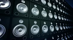 Speaker Wall. Stock Footage