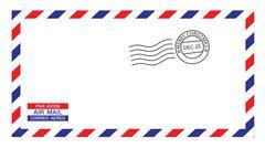 Stock Illustration of christmas airmail envelope