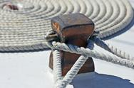 Stock Photo of Mooring rope