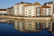 Quayside reflections Stock Photos