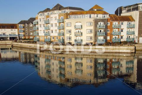 Stock photo of Quayside reflections
