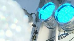 LED Light focus pull Stock Footage