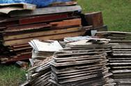 Stack of construction materials Stock Photos