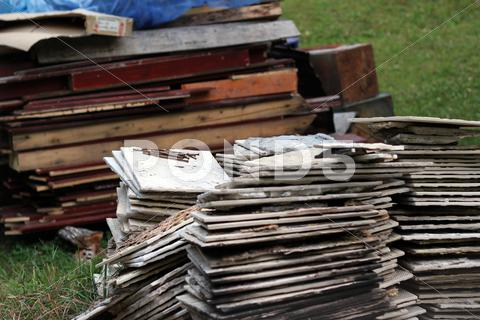 Stock photo of Stack of construction materials