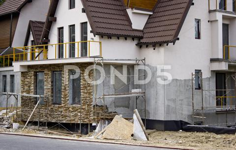 Stock photo of Villa construction site