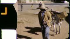 POVERTY Rural MEXICO Mexican Man Village 1940s Vintage Film Home Movie 5848 Stock Footage