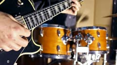 Guitar and Drums Stock Footage