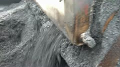 Stock Video Footage of Dumping Black Tar into Asphalt Machine