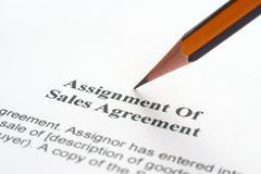sales agreement - stock photo