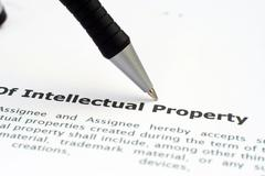 intellectual property form - stock photo