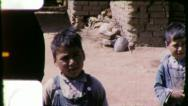 Stock Video Footage of MEXICO Mexican BOYS CHILDREN Poor Village Kids 1940 Vintage Film Home Movie 5855