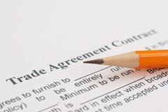trade agreement - stock photo