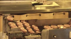 Fair Mini Donuts on Conveyor Belt Stock Footage