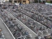 Biicycle parking lot Stock Photos