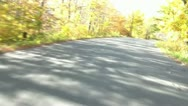 Fall Drive Down Winding Road Stock Footage