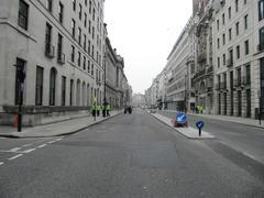 London Street during manifestation Stock Photos