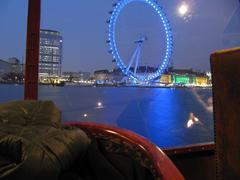 London eye in night Stock Photos
