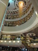 MSC Cruise Ship - Main Hall Stock Photos