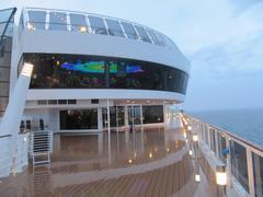 Onboar MSC cruise ship Stock Photos