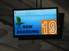 Now boarding - checkin Stock Photos