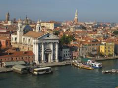Venice view from above - stock photo