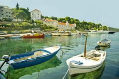 Stock Photo of boats in adriatic sea