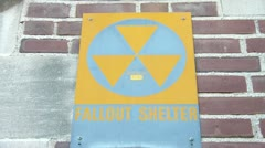 Fallout Shelter Sign Stock Footage