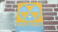 Stock Video Footage of Fallout Shelter Sign
