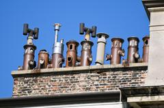 chimneys - stock photo