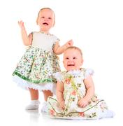 Stock Photo of one years old baby girls
