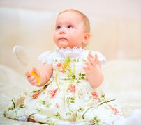 Stock Photo of one years old baby girl
