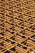 steel reinforcement - stock photo
