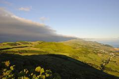 sao jorge with pico, azores - stock photo