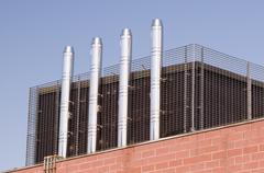 steel chimneys - stock photo
